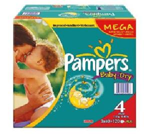 Pampers BabyDry Size 4 Maxi Nappies 2 x Jumbo Packs of