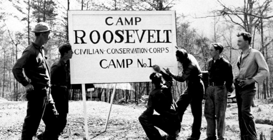 The New Deal's Civilian Conservation Corps employed 3 million young men during the Great Depression to plant trees, prevent wildfires and control flooding. Photo credit: Franklin D. Roosevelt Library & Museum