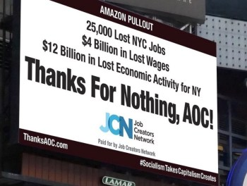 aoc thanks for nothing billboard