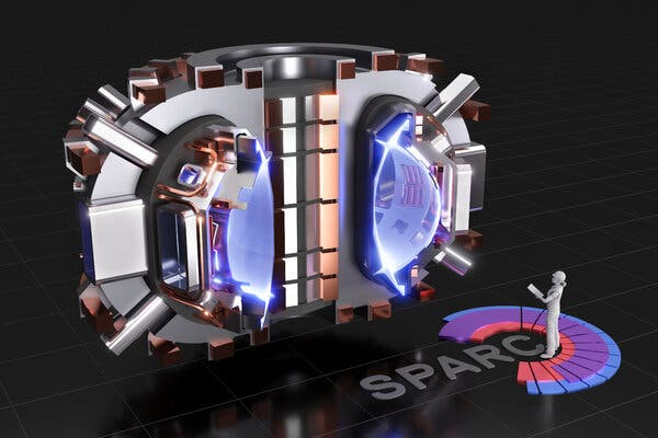 The Sparc fusion energy machine would be relatively small, as shown by this rendering of the reaction chamber.