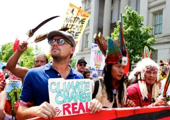 dicaprio climate march
