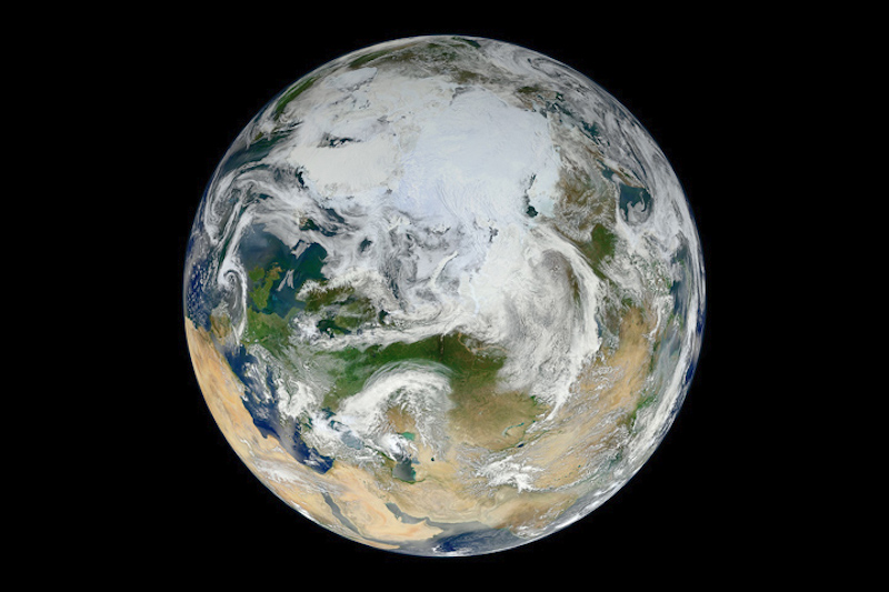 View of planet Earth from space.