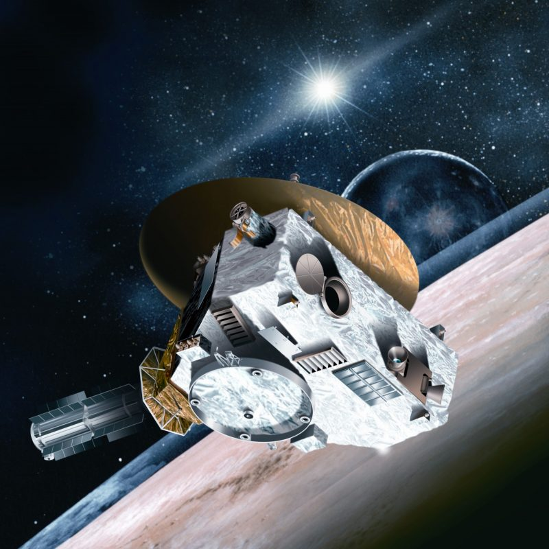 Illustration of New Horizons in space.