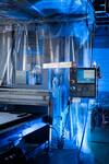 A CNC Router is programmed to cut 3-D profiles out of wood, metals, composites or foam at Otherlab headquarters.