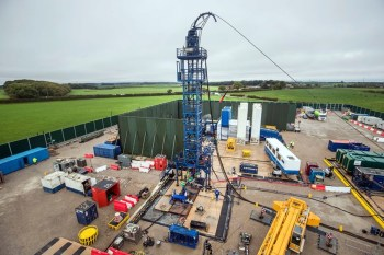 old britain fracking site