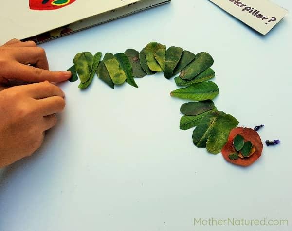 Hungry Caterpillar Art para niños