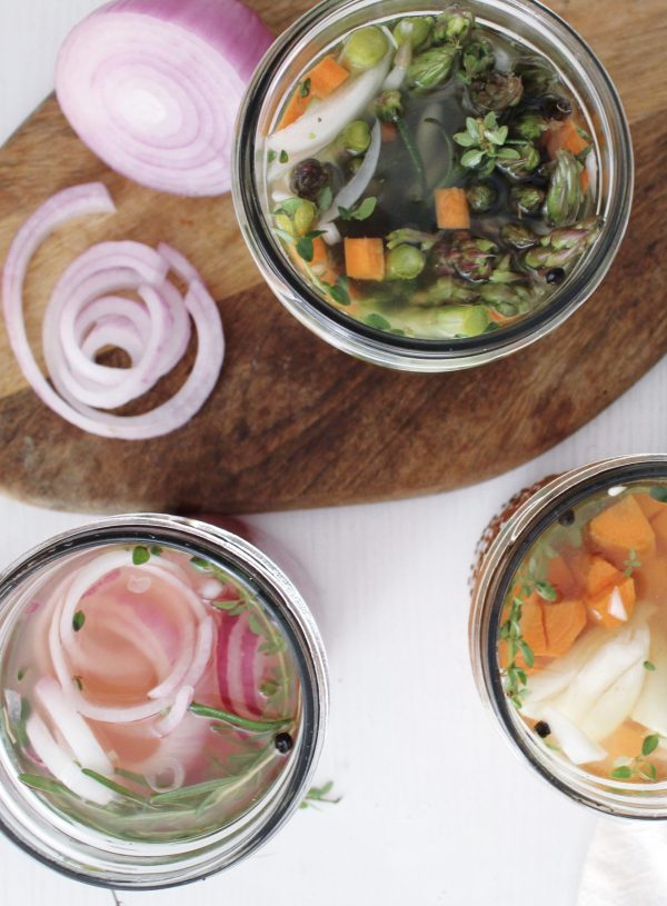 Simple Refrigerator Pickled Vegetables