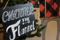 Channel the Flannel sign
