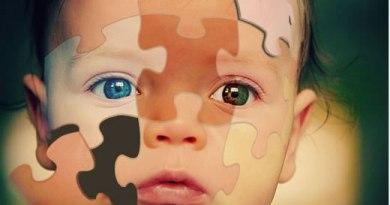 Kind aus Reagenzglas