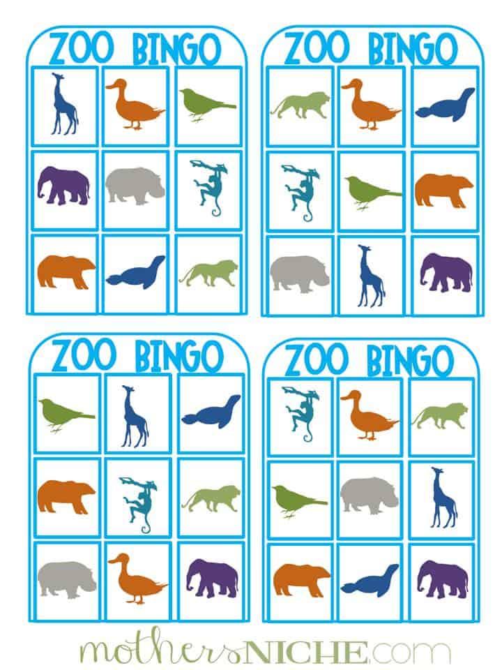 This is an image of Vibrant Animal Bingo Printable