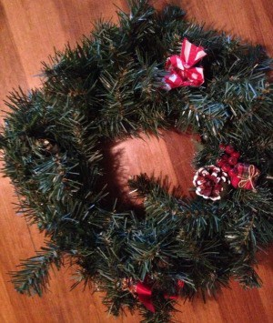 buy an ugly wreath at a thrift store and use the frame for a new wreath rather than buy one new