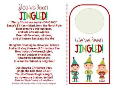 You've been jingled door tag