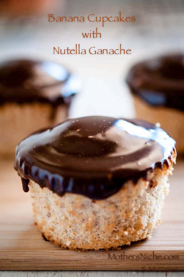 Banana Cupcakes with Nutella Ganache Recipe