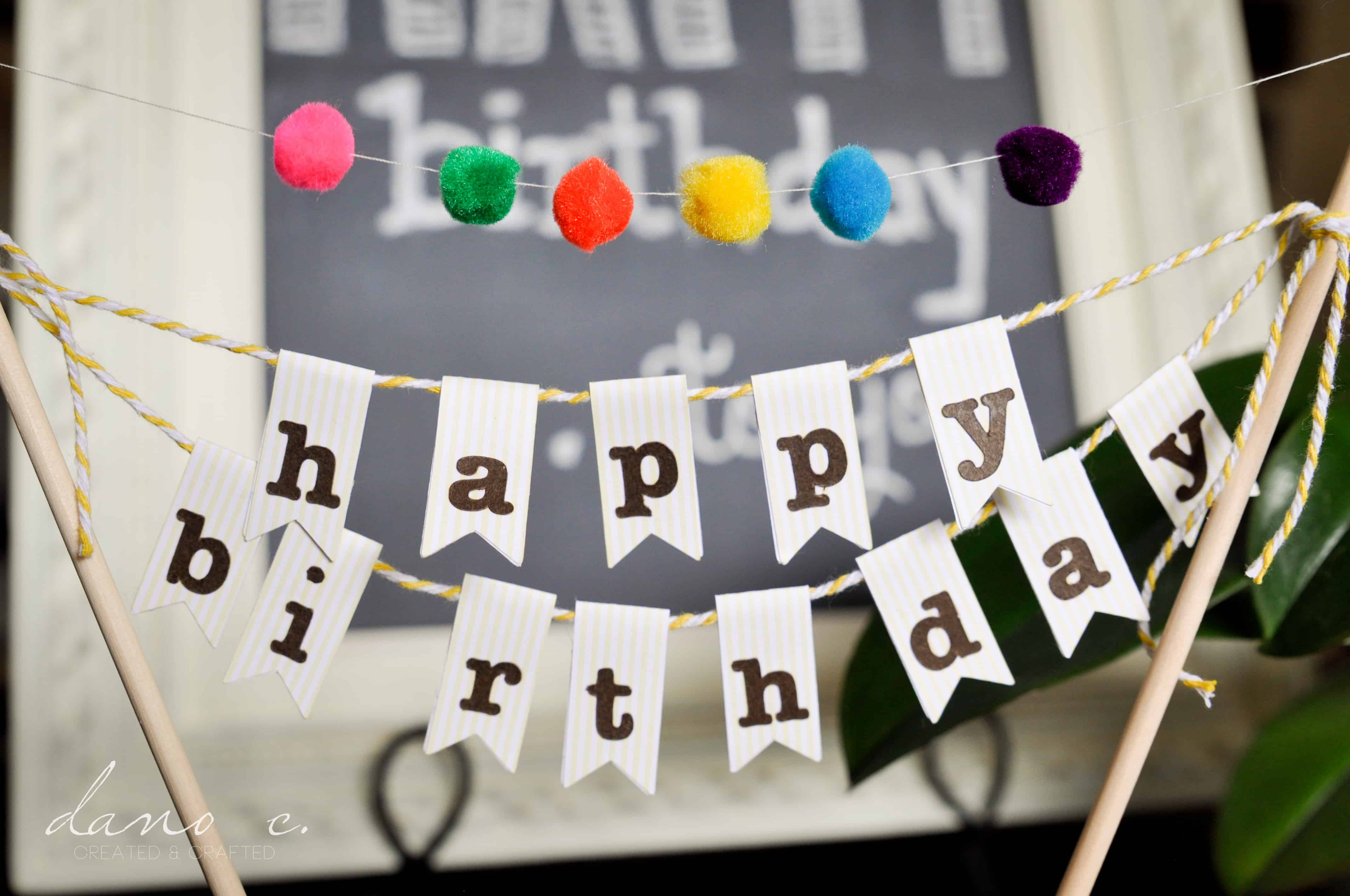 Diy birthday cake banner Sweets photos blog