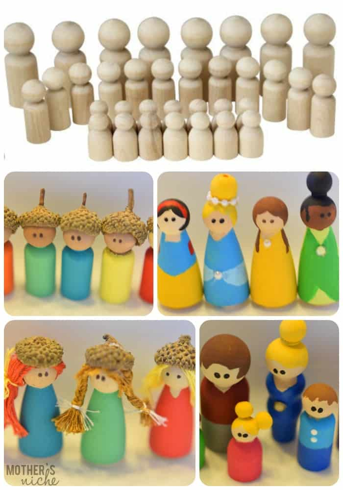 How to make your own peg dolls. These are incredibly easy to make and are perfect for gifts, stocking stuffers, or a service project!