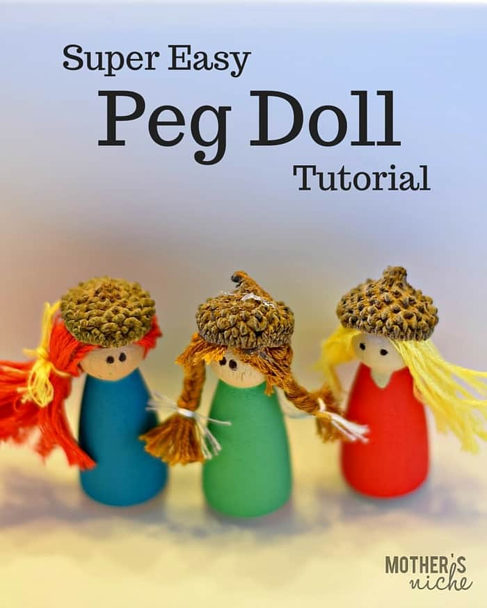 Peg Dolls are so cheap and easy to make yourself and make awesome gifts.