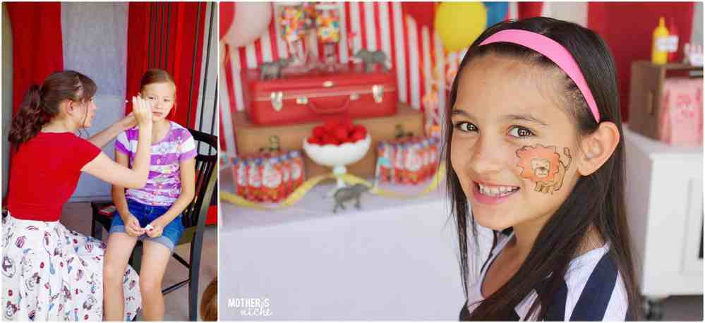face Painting circus party