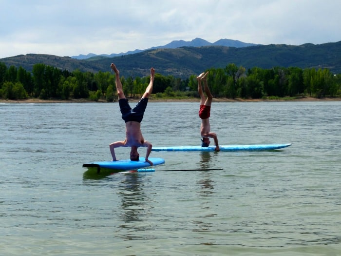 SUP boarding in Northern Utah