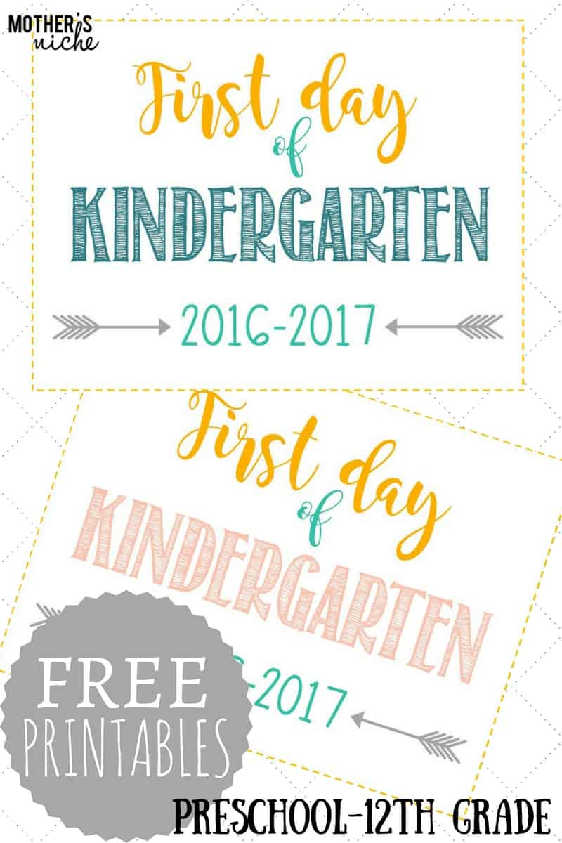 FIRST DAY OF SCHOOL SIGNS FREE PRINTABLES PreSchool 12th Grade – First Day of School Worksheet
