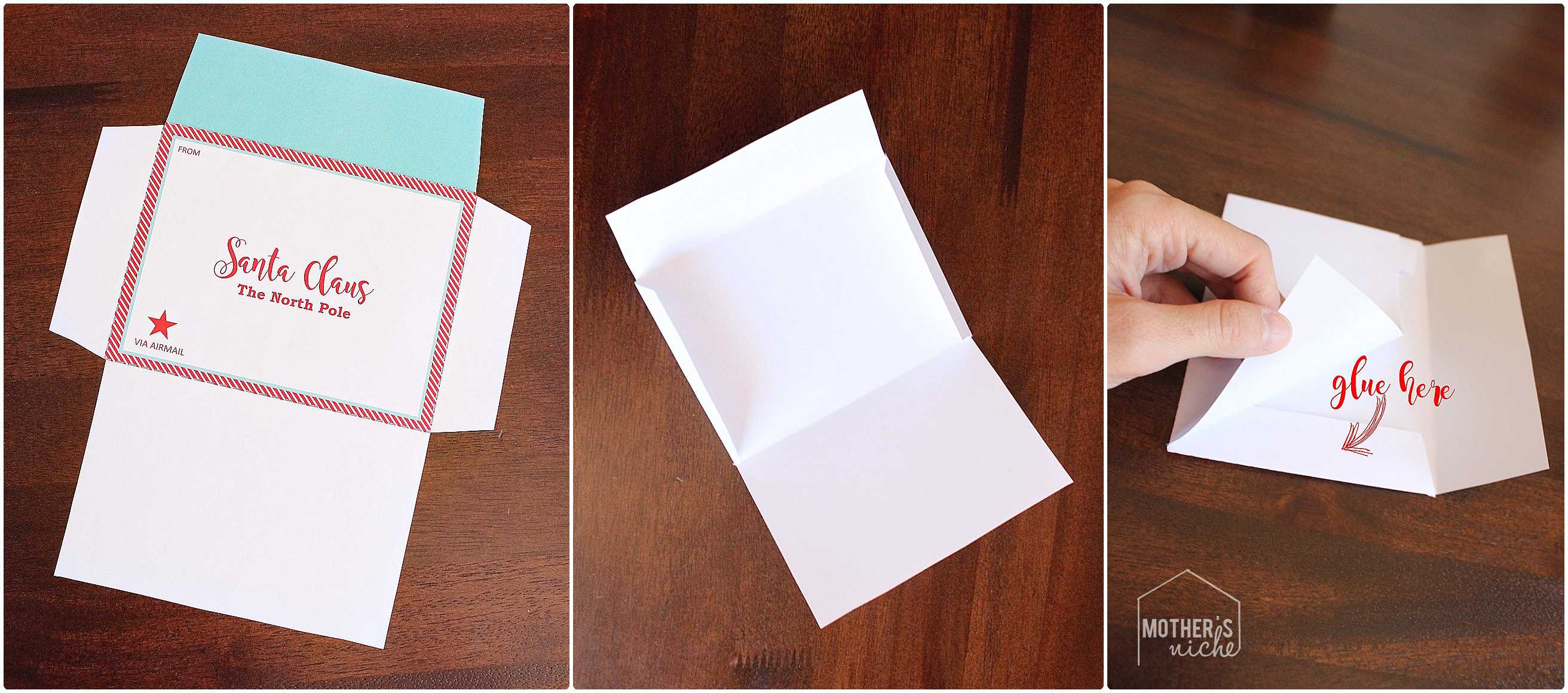 santa letter and envelope  free printable