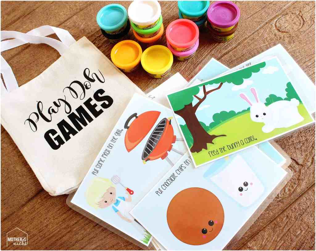 play dough activity mats