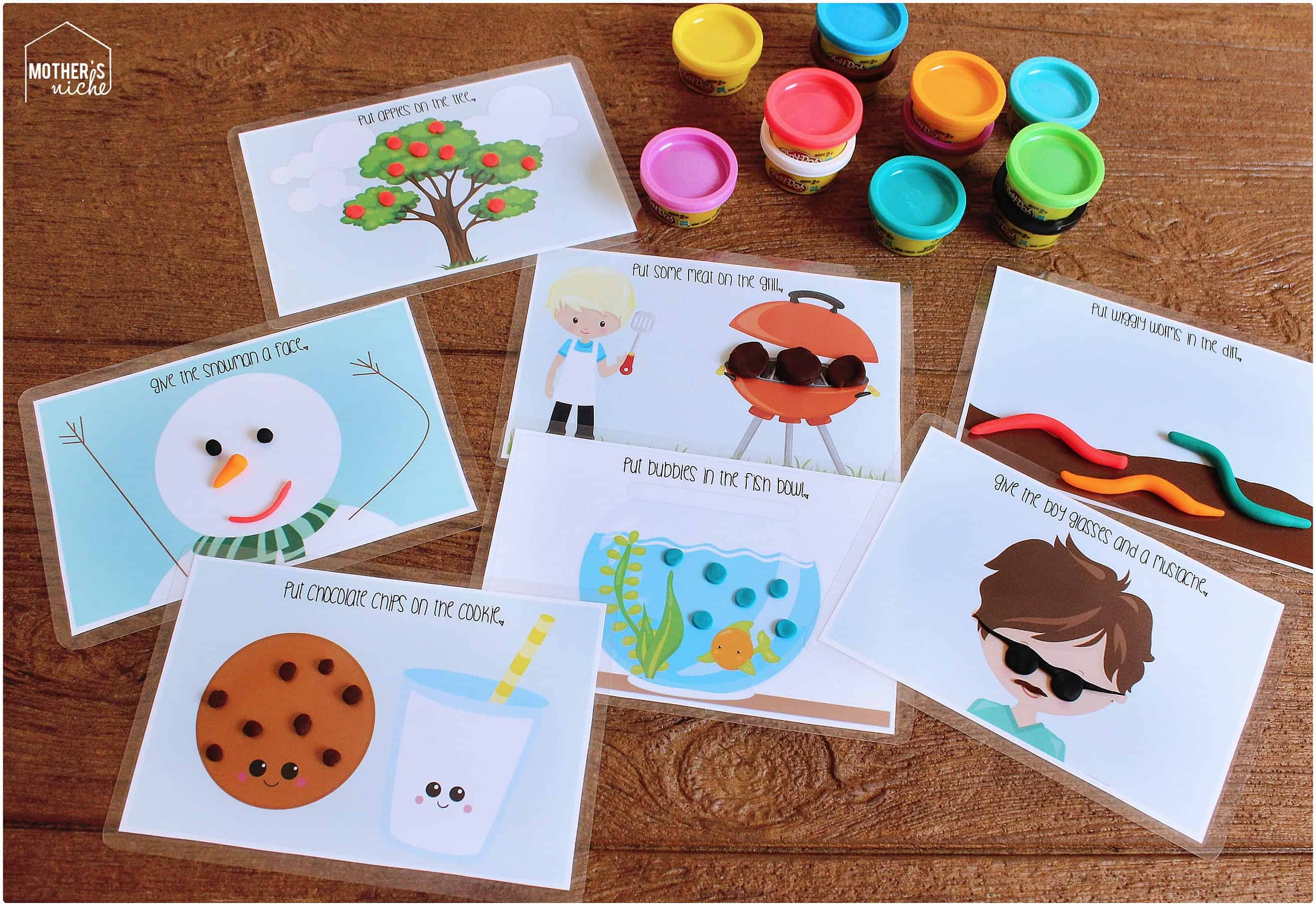 It is a photo of Resource Play Dough Mats