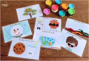 Play Dough Activity Mats Busy Bag: Free Printables!