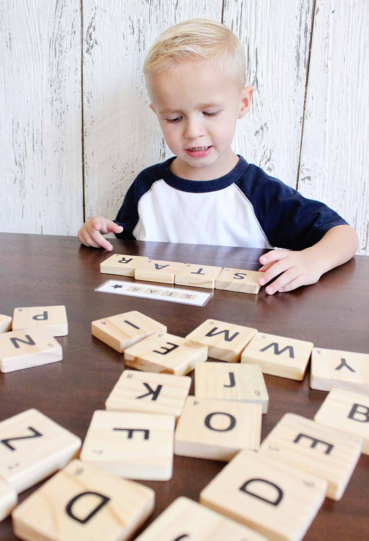 Scrabble Spelling Busy Bag