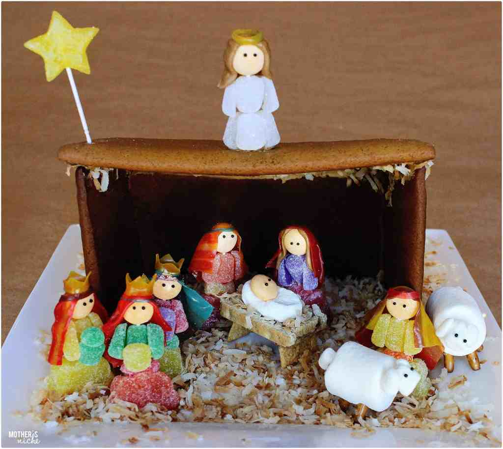gingerbread nativity + AWESOME gingerbread and royal icing recipe!