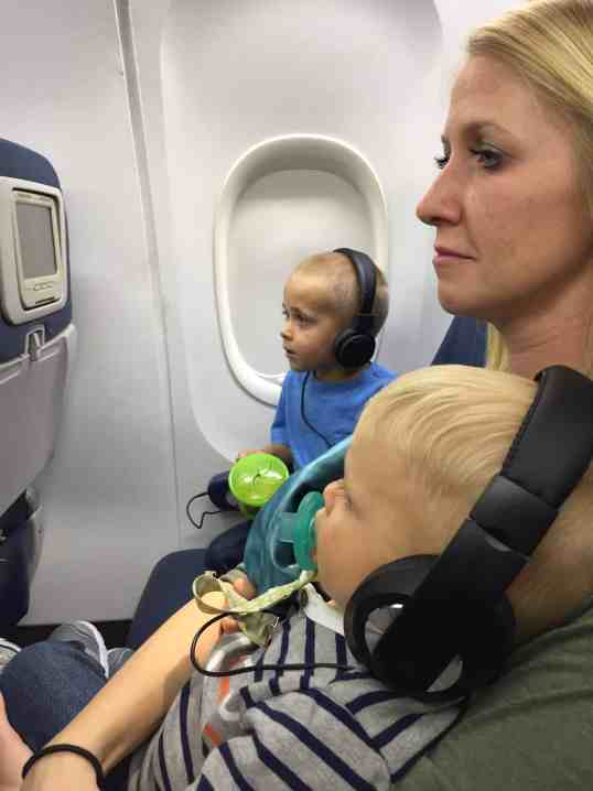 Airplane Ride with Toddlers