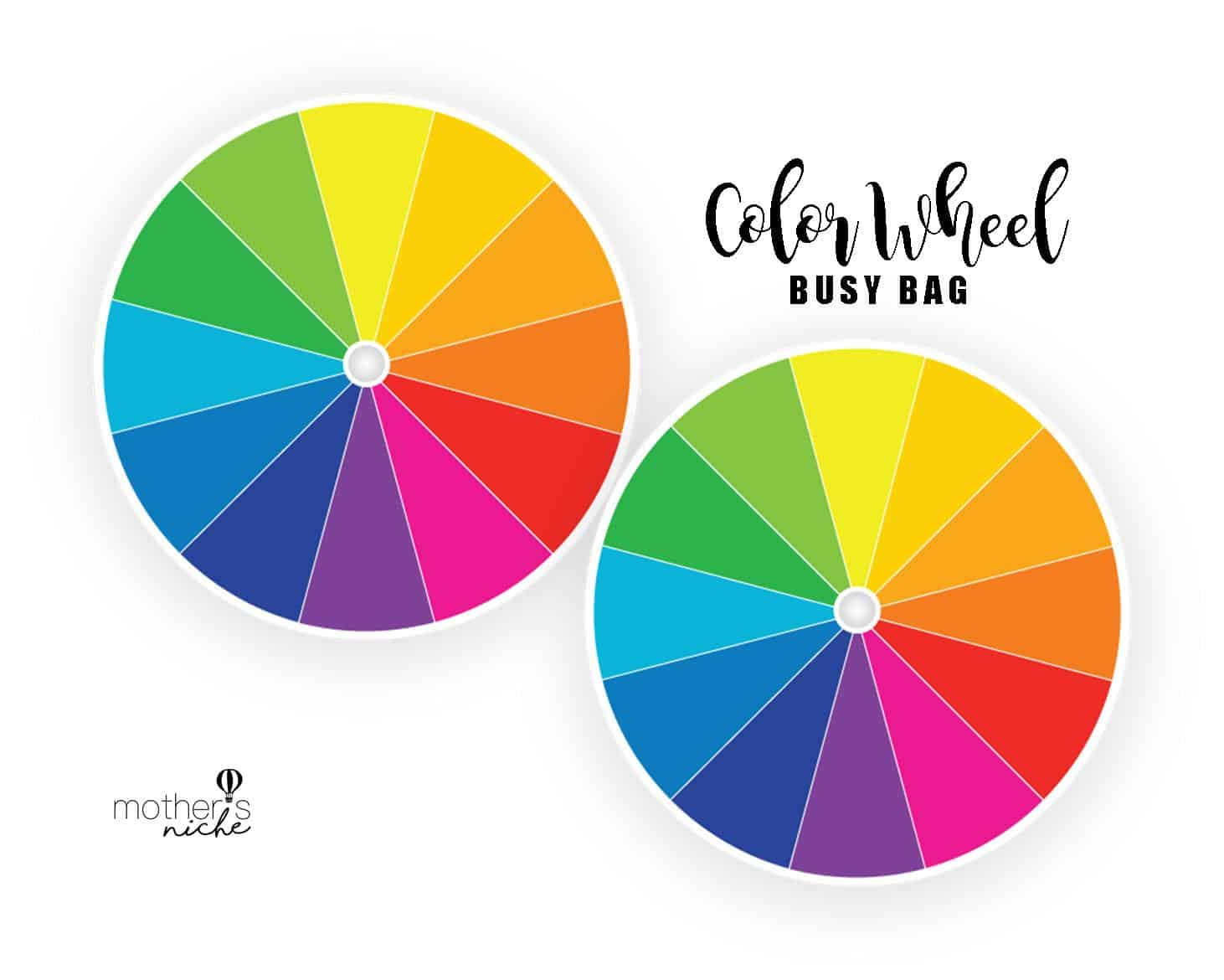 Color Wheel Busy Bag Plus Free Printable