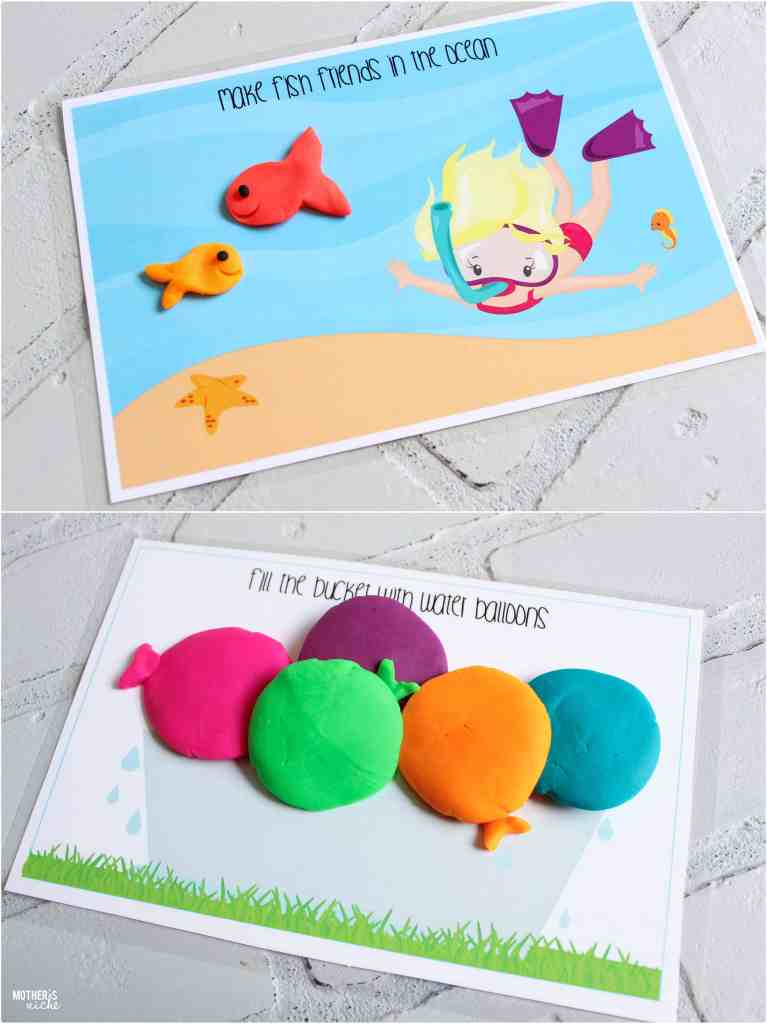 Play Dough Mat Busy Bags- SUMMERTIME EDITION Free Printables