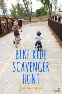 Bike Ride Scavenger Hunt For All Ages!