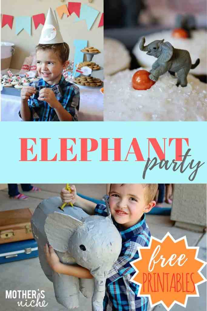 the sweetest ELEPHANT themed birthday party