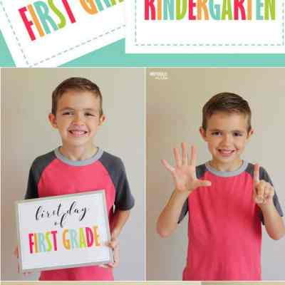 First Day of Kindergarten Sign (Plus Preschool-12th grade)