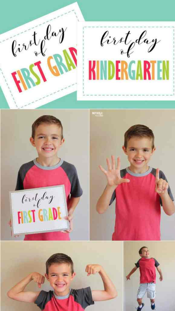 Looking for a Free First Day of Kindergarten Sign? We have preschool up to 12th Grade!