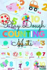 Counting Activities With Play Dough Activity Mats!