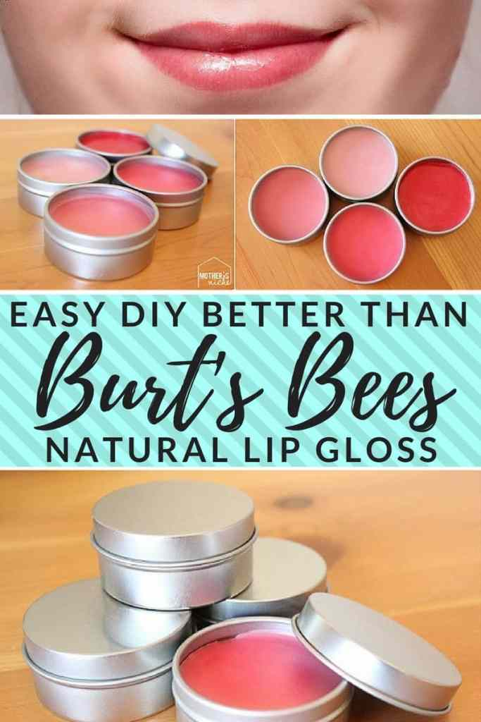 Make your own better-than-Burts-Bees lip gloss. How to make lip gloss the cheap and easy way. All-natural
