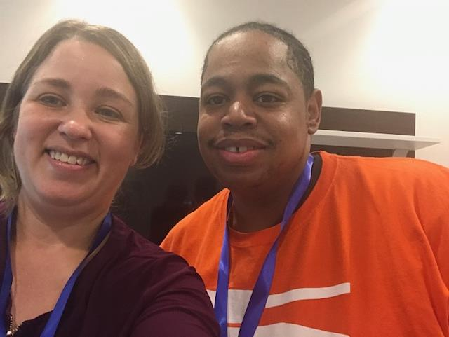 "Photo of Tammy Nyden and John ""Tank"" Miller at the Federation of Families for Children's Mental Health Conference"