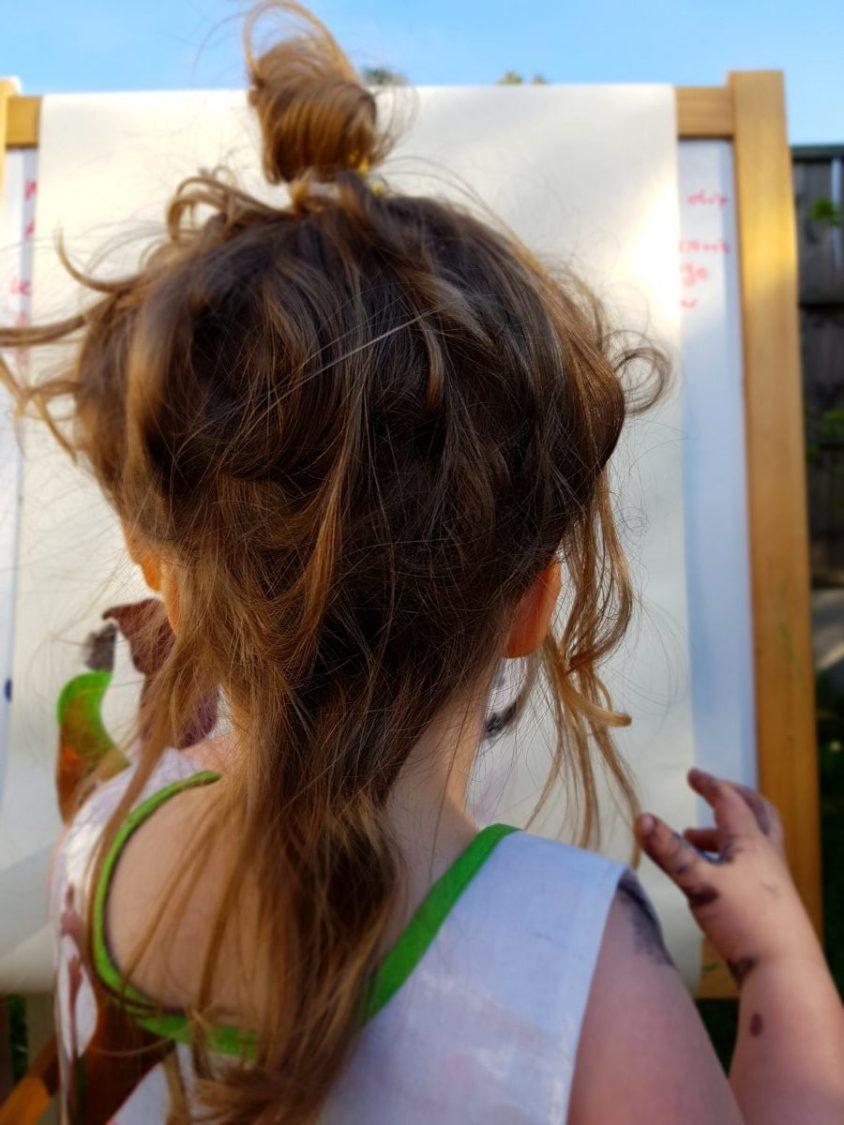 children painting al fresco
