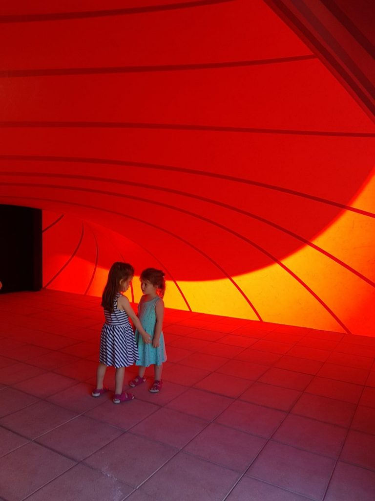 Playing inside a Anish Kapoor installation in Casa Serralves, Porto, Portugal