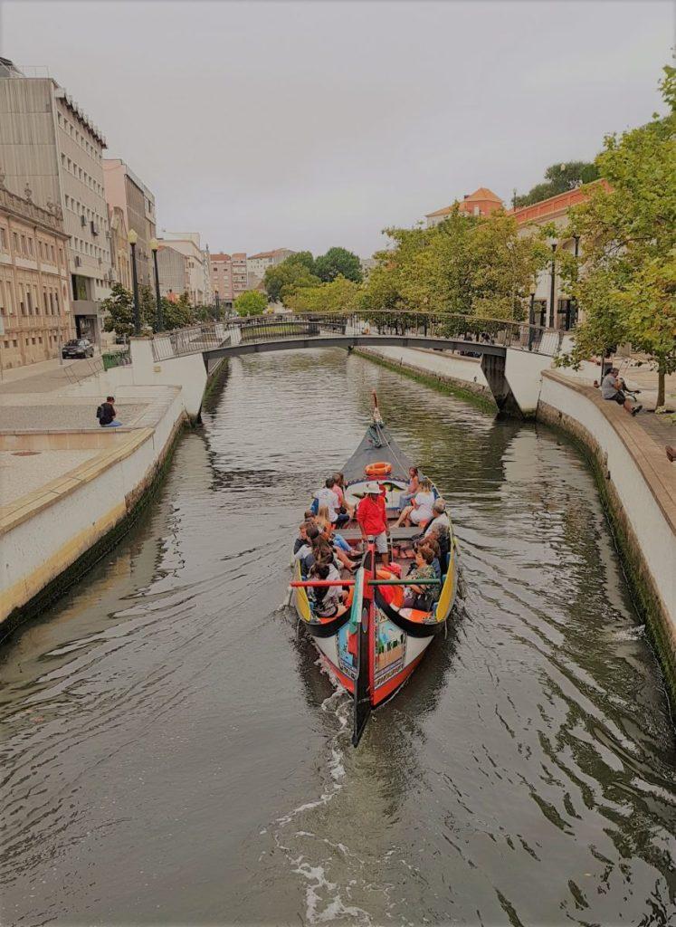 A moliceiro boat in Aveiro