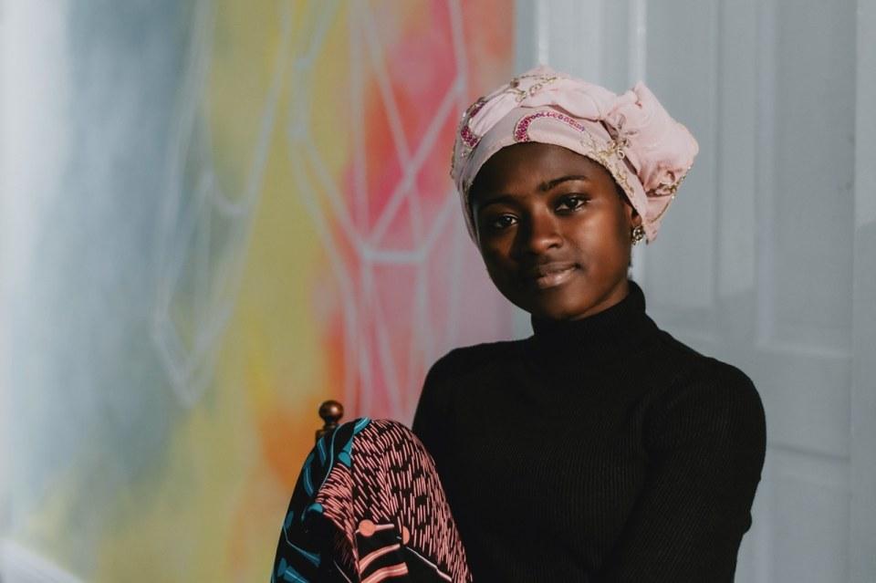 Zeenie Summers for Yoruba bedtime stories. Social Inclusion Festival. Picture Elena Cristofanon