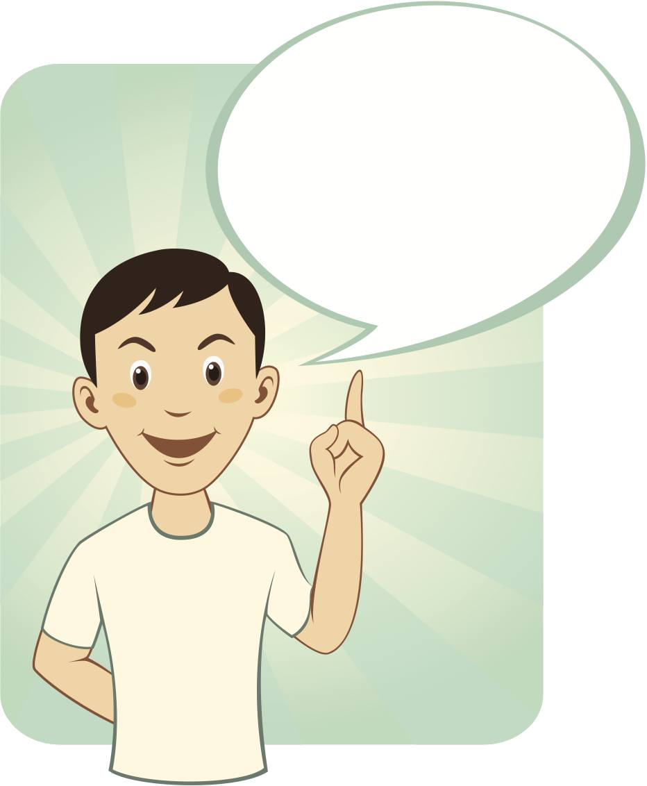 Caucasian man with speech bubble