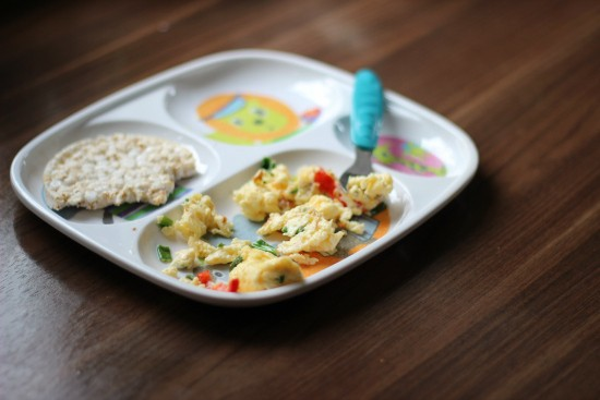 toddler plate with leftover food