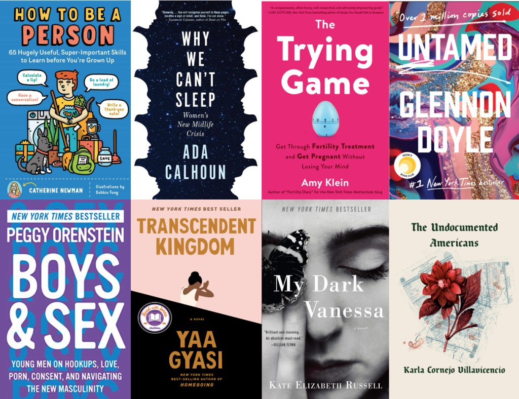 multiple book covers