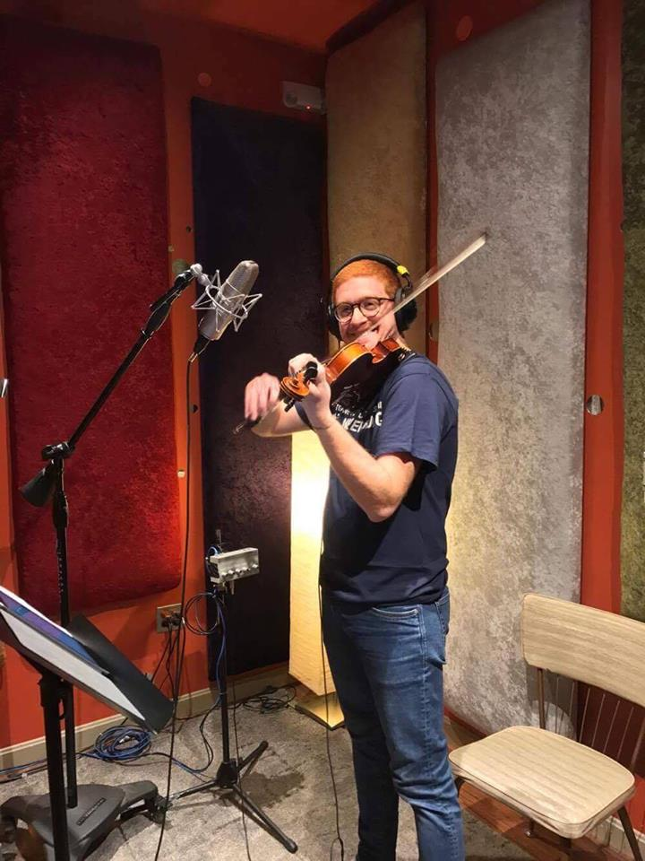 Ya Albi Recording Session with The Red Violinist and Composer Steffen Schmidt