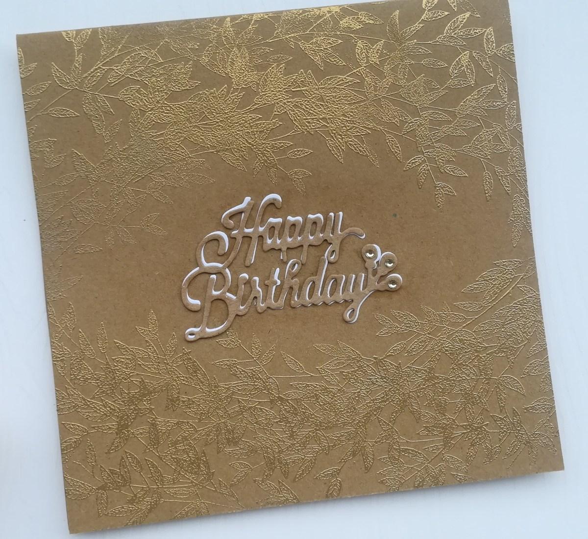 Carte d'anniversaire, faite main