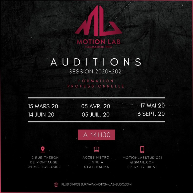 audition formation professionnelle