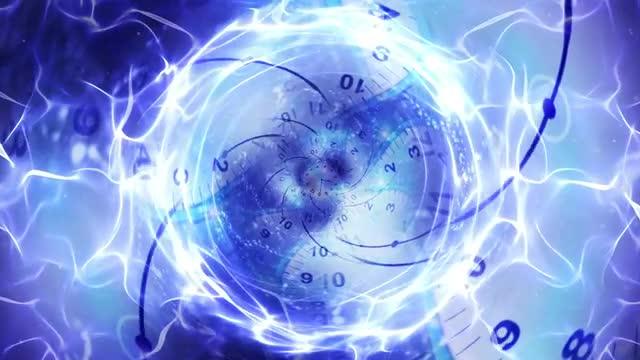 abstract tunnel clocks stock
